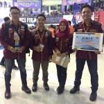 congratulations Juara 2 :  NICKO AGBAR ELRISKY, IMAN AGUS FAISAL, KRISNA IMAN PRASETYA.  Lomba Kompetisi Jembatan Indonesia kategori Jembatan Baja Konvensional POLINEMA Malang