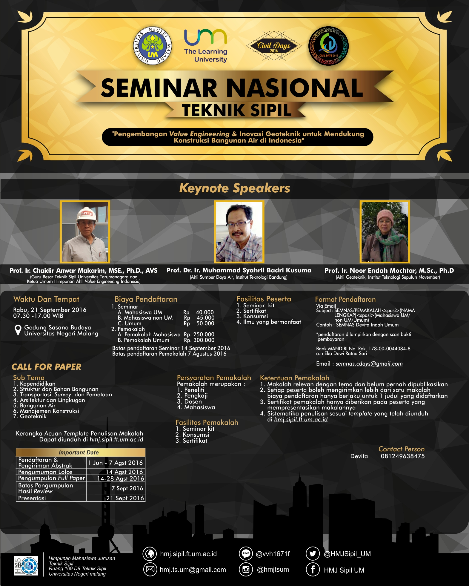 Pamflet Seminar Nasional