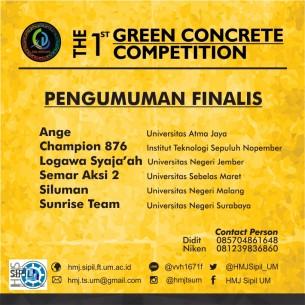 pengumuman finalis green concrete