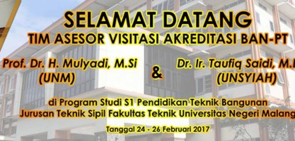 Akreditasi Prodi S1 Pendidikan Teknik Bangunan