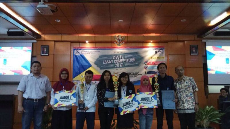congratulations Juara 2 LATIFAH, MEYLINDA AYU PUTRILESTARI, MONICA DIAN KARTIKA DEWI. dalam Lomba Civil Essay Competition 2017, 21 okt 2017, di UB