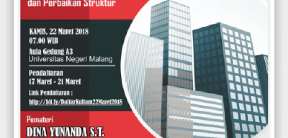 KULIAH TAMU JURUSAN TEKNIK SIPIL 2018