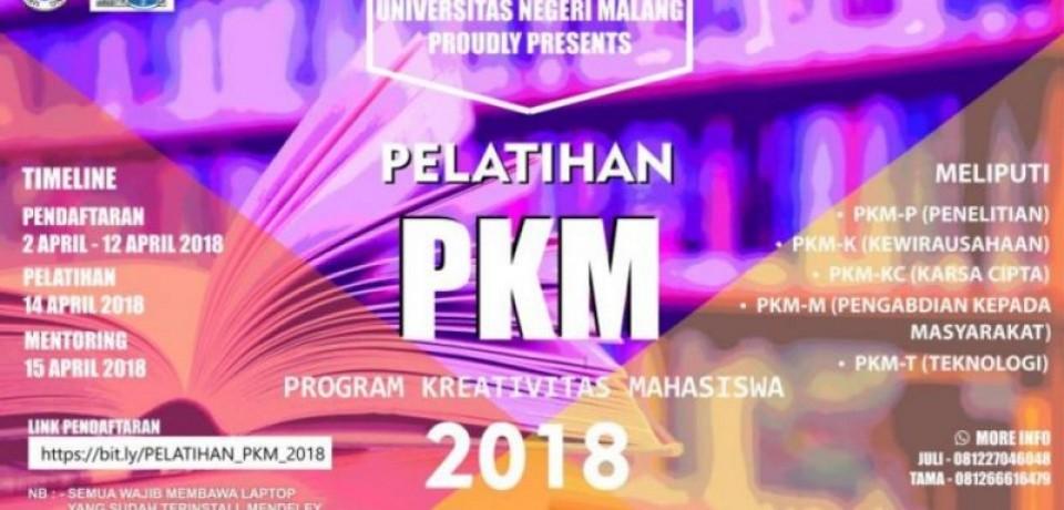 Pedoman Progam Kreativitas Mahasiswa (PKM) Tahun 2018
